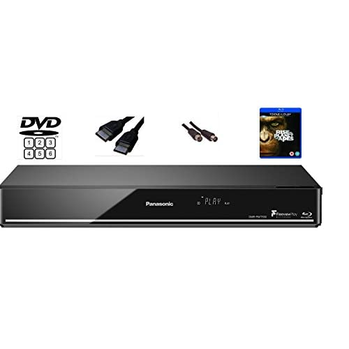 Panasonic DMR-PWT550 (MULTIREGION FOR DVD ONLY) Smart Network 3D Blu-ray DiscTM / DVD Player & 500GB HDD Recorder with Twin HD Tuner and Free View playback –