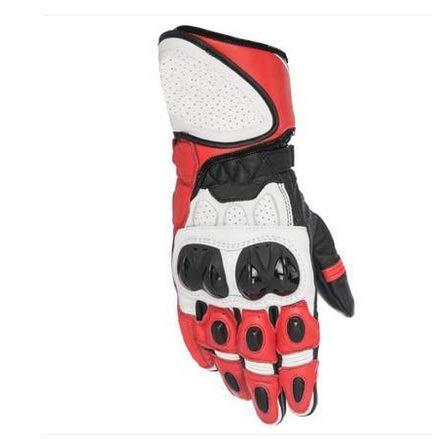 WANGYAN1886-gloves High-End Moto Guanti Sportivi Equitazione Locomotiva Antivento Anti-Caduta off-Road Moto da Pista Una Guanti guantes Comfortable (Color : Red, Size : L)
