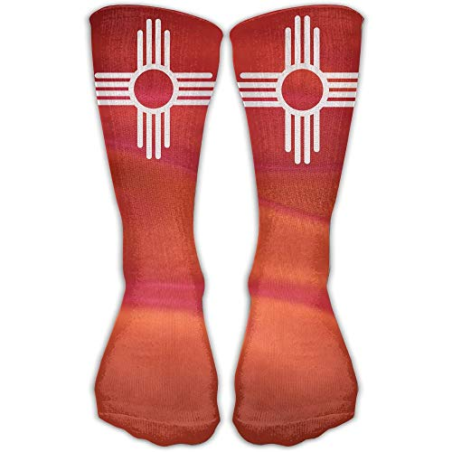 UFHRREEUR New Mexico Sun Symbol Best High Performance Athletic Running Casual Socks for Men & ()