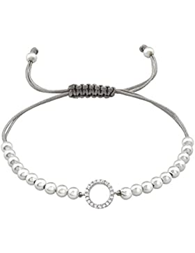 Laimons Damen-Armband Damenschmuck Ring Weiß Zirkonia Sterling Silber 925