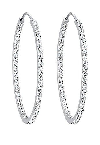 Elli orecchini a cerchio da donna in argento 925