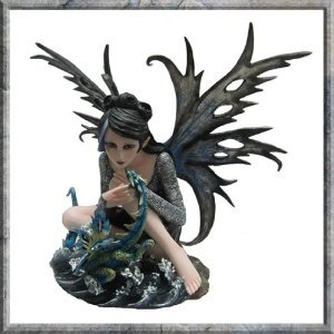 Sylph Fairy with Dragon 36cm ornament figurine by Nemesis Now (NIS3602)