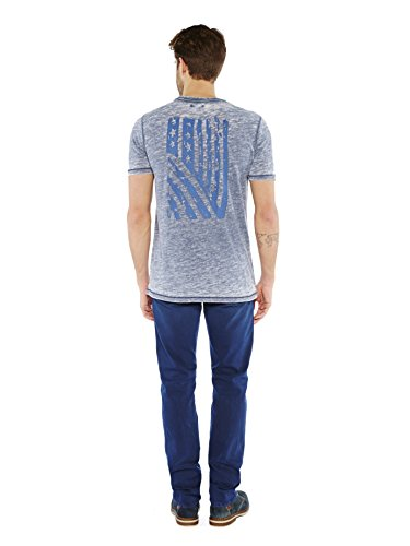 Colorado Denim Herren T-Shirt Carrell Blau (NIGHTSHADOW 6073)