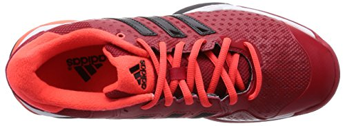 adidas Barricade Team 4, Sneakers basses homme Rouge (Power Red/Core Black/Solar Red)