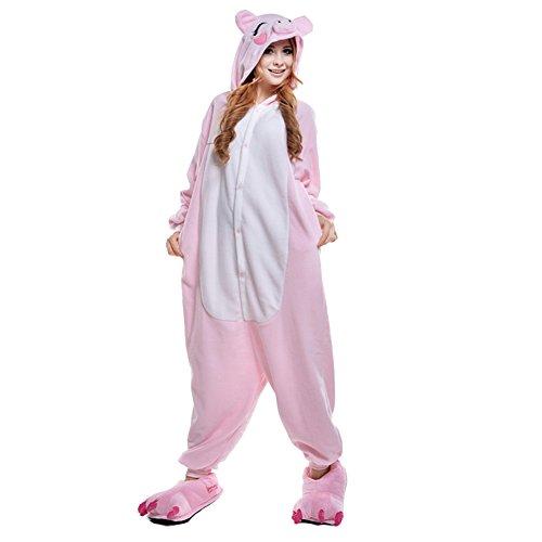 Imagen de freefisher pijama ropa de dormir costume disfraz de animal cosplay cartoon franela hombre mujer cerdo color rosa s