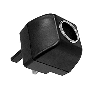 Cigarette Lighter Socket Car to Home AC to DC Converter Power Supply Adapter Inverter 220V to 12V 500mA UK Plug Black(Rated Power Range is 6W)