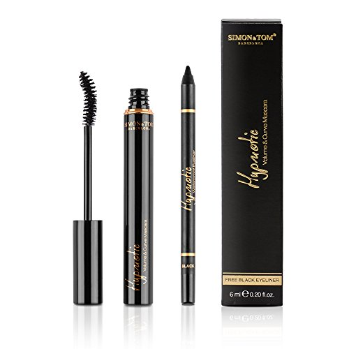 Simon & Tom – Hypnotic Mascara Volume & Curve – Waterproof Wimperntusche + Kostenloser Black...
