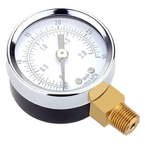 Heaviesk TS-Y50I 0-30 PSI Kompressor Manometer 2 Zoll Gesichtsseitenmontage 1/8 NPT Hydraulische Druckluft Manometer Tester Messgerät -