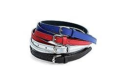 Vbirds Girl's Belt Combo of 4 Pc Set (KBH-B132_Blue, Red, Black,White)
