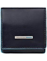 Piquadro PU2634B2 Portamonete, Collezione Blu Square, Blu