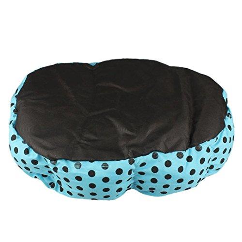 Sannysis Weiches Fleece Hund Welpen Katze-Bett-Haus-Plüsch Cozy Nest-Matten-Auflage-blau - 3