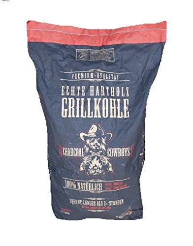 Charcoal Cowboys 15 Kg Steakhousekohle Reines Quebracho Blanco Holzkohle Grillkohle-Perfekte Restaurantqualität-Reach-registrierte Holzkohle (Holzkohle Cowboys)