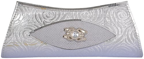 Yazlyn Collection Women's Clutch (Silver, YZ169)  available at amazon for Rs.98