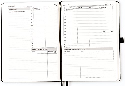 image regarding Day Organizer titled Move Working day Weekly Planner 2016 - Measurement 8x11 - Design and style Manufactured