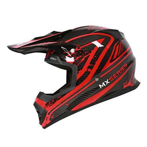 Carbon Offroad Helm, DOT/ECE zertifizierter Motorradhelm ATV City Street Reithelm MX Rally Competition Motocross Helm,M