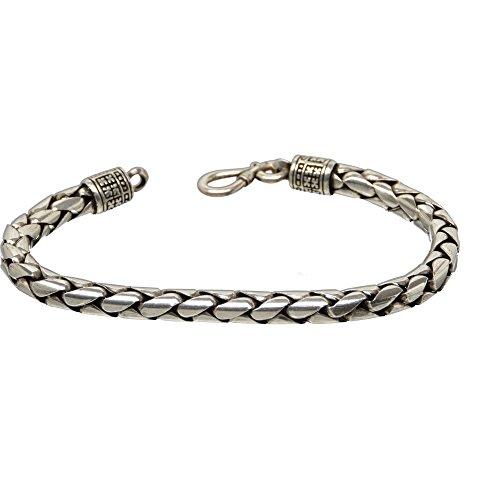 Bouddha to Light Biker Bracelet Cool Argent Sterling Handmade ronde eie 299eur