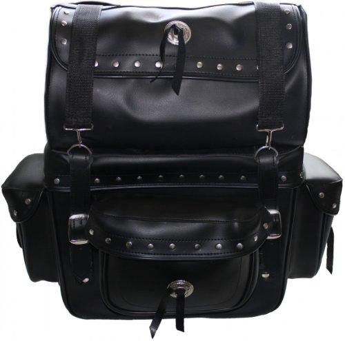 Motorrad Satteltasche saddlebag Sissy Bar Bag Motorradtasche Tasche aus Kunstleder