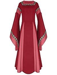0889e3f36b60 Donna Vestito A Maniche Lunghe di Halloween Costume Medievale Vestito  Completo Costume di Halloween