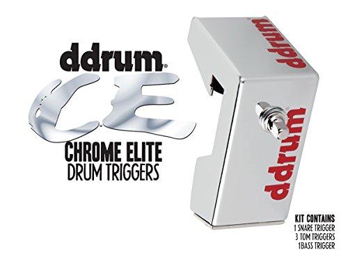 Ddrum CETKIT Elite - Confezione di trigger per batteria, in cromo