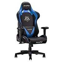 AutoFull Ergonomic Gaming Chair PU Leather Bucket Seat Racing Office Desk Computer Chairs with Lumbar Support (3-Years Warranty)