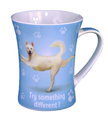 Essayez quelque chose Yoga Animal Mug en porcelaine anglaise