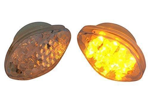 Carenatura Da incasso Monte Fit Marchio E LED Color ambra Frecce per motociclette