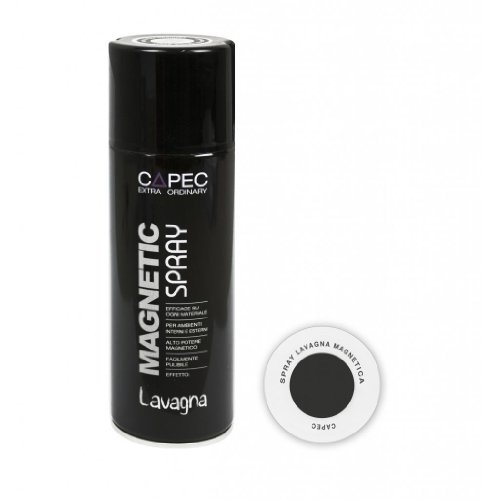 MAGNETIC SPRAY LAVAGNA Spray Lavagna Magnetica / Vernice Lavagna Magnetica Capec ml 400