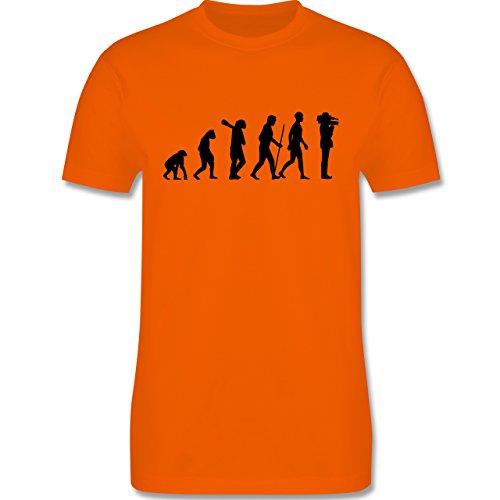 Evolution - Kameramann Evolution - Herren Premium T-Shirt Orange