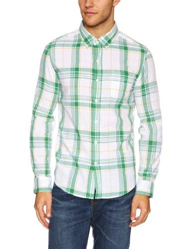 Levi da uomo Button Down Maniche Lunghe Camicia Casual Multicoloured - Mehrfarbig (DRESDEN PLAID - PINE GREEN 0019) 38
