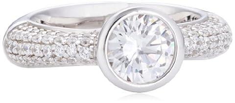 Joop Damen-Ring Meryl Zirkonia-Solitär Zirkonia-Pavée weiß 925 Sterling Silber Gr. 53 (16.9) JPRG90646A530