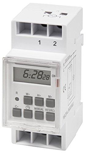 """Digitale Zeitschaltuhr McPower """"STE-3"""" 7 Tage, 230V für Schalttafel-Einbau, 3600W"""