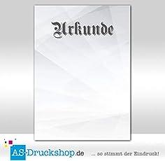 Motivpapier - Urkundenpapier - Urkunde Silber / 25 Blatt/DIN A4 / 250 g-Offsetpapier