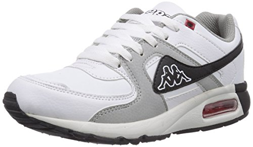 Kappa EMPIRE Footwear unisex, Low-Top Sneaker unisex adulto, Bianco (Weiß (1016 white/grey)), 36