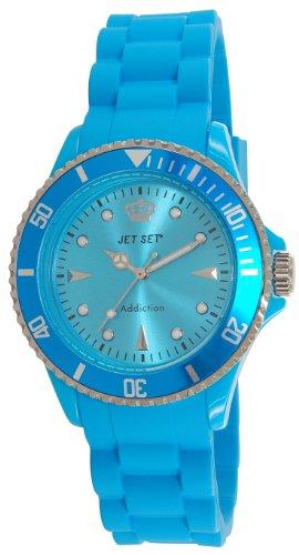 Jet Set - 18314-25 Addiction 2-J Women's Watch Analogue Quartz Dial Rubber Turquoise, Turquoise