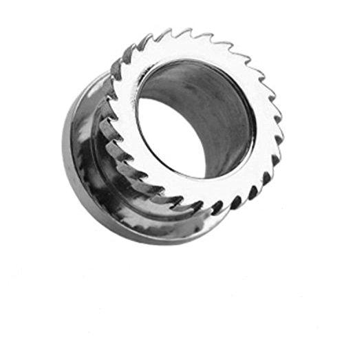 12mm Chirurgenstahl Mechanische sah Hohlschraube Fit Ohr - Stecker - Tunnel Piercing Sattel edelsten Materialien Klinge
