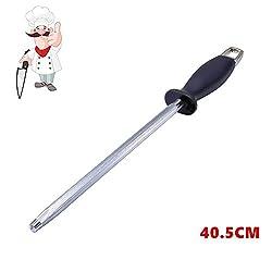 Pootack 40.5 CM langer Wetzstahl Schleifstab, Messerschärfer für professionelle Köche, Messerschleifstab