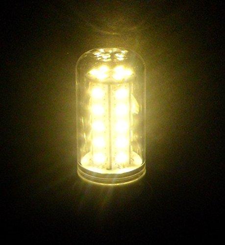 Lámparas led E27 de mm.30 diámetro de 36 led cilíndrica compuesta 5630 6watt dc230 Volt 550 lm bianco caldo 3000-3500k