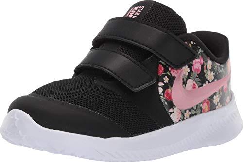 Nike Baby Mädchen Star Runner 2 VF (TDV) Sneaker, Schwarz (Black/Pink Tint-Pale Ivory 001), 22 EU (Baby Schuhe Nike Für Mädchen)