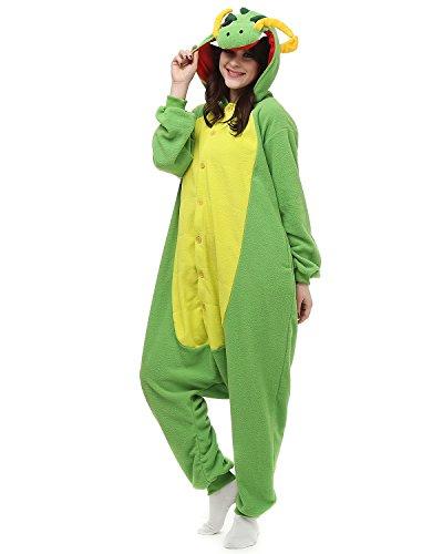 Kigurumi Chinese Drache Pyjama Schlafanzug Erwachsene Unisex Mann Dame Cosplay Jumpsuit Onesie M (Chinesen Kostüm Frauen)