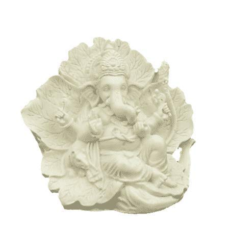 Ganesha beeld Ridhi Sidhi 12cm