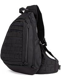 DCCN Rucksack mit einem Gurt Crossbag Sling bag Molle Sling Rucksack für Radfahren Wandern Camping