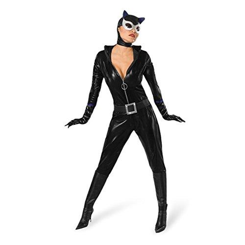 Catwoman Damen Kostüm Katze Katzenkostüm Größe M
