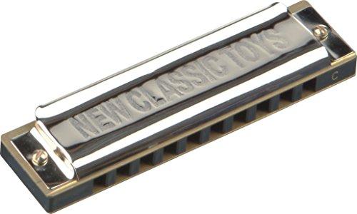 New Classic Toys NCT 0023 - Musikinstrument - Mundharmonika - 10 Löcher mit 10 spielbaren Tönen