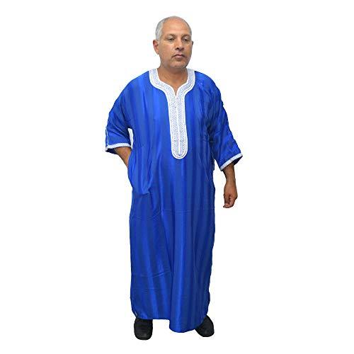 Chilaba djelaba caftán túnica Modelo árabe marroquí. Es de satén y algodón y se Puede Usar Todo el año. Mide de Ancho 79 cm y 150 cm de Largo Aproximadamente