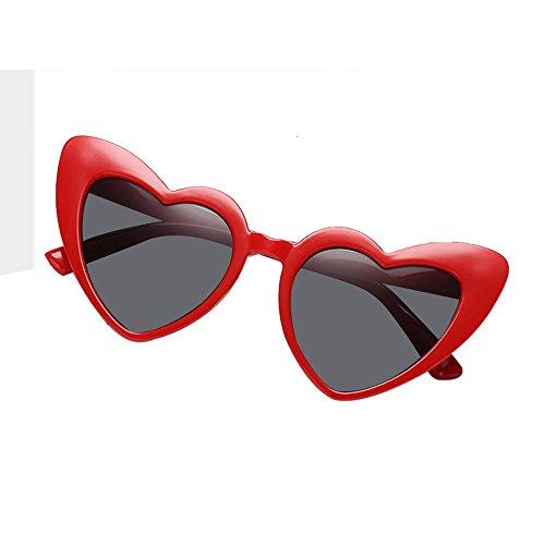 678524ad9b AOLVO con Forma de corazón Gafas de Sol, Retro Cute Ligero Marco de  plástico Gafas
