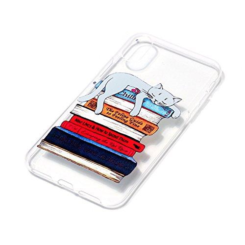 Coque Housse Etui pour iPhone X, Apple iPhone X Coque en Silicone, Apple iPhone X Silicone Coque Housse Transparent Etui Gel Slim Case Soft Gel Cover, Etui de Protection Cas en caoutchouc en Ultra Sli 4