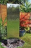 180cm Wasserwand aus Edelstahl mit Plastikreservoir