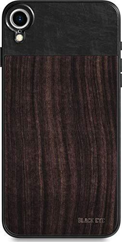 BLACK EYE Photo Case für Apple iPhone XR (Rückseite aus hochwertigem Sandelholz, spezielles Befestigungssystem für alle Objektive, Gummierte Ecken, Handschlaufe inklusive) - IP006