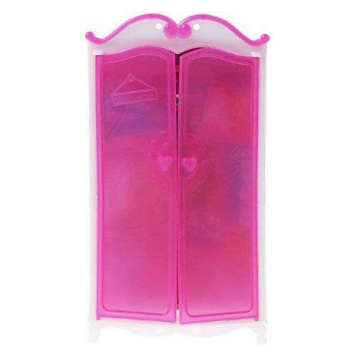 Guoyy Princesse Meubles Penderie Barbie Jouets Maison de poupée Accessoires de Jouets