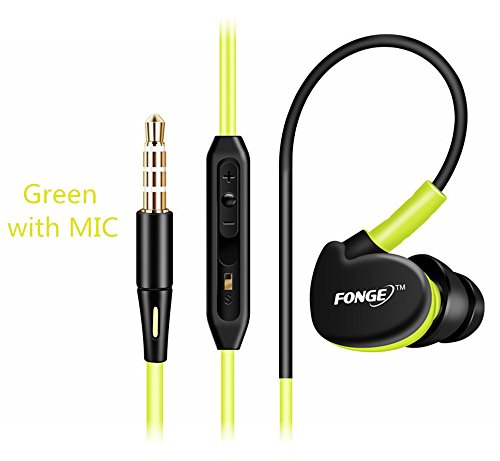 Sport Kopfhörer Wasserdicht Sweatproof IPX5 Ear-Kopfhörer Ohrstöpsel Stereo Bass Rauschunterdrückung Lautstärkeregelung Freisprecheinrichtung + Mic Headset für Alle Smartphone